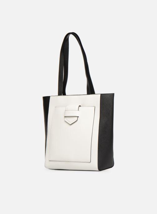 Sacs à main Esprit Lara Shopper Blanc vue portées chaussures