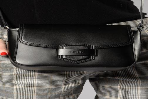 Sacs à main Esprit Lara Shoulder Bag Noir vue bas / vue portée sac