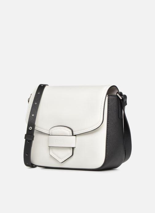 Sacs à main Esprit Lara Shoulder Bag Blanc vue portées chaussures