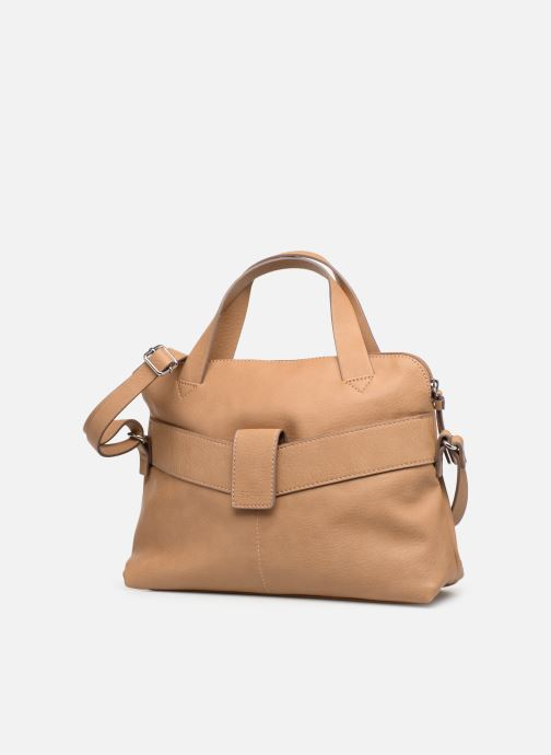 Sacs à main Esprit Lexi City Bag Beige vue portées chaussures