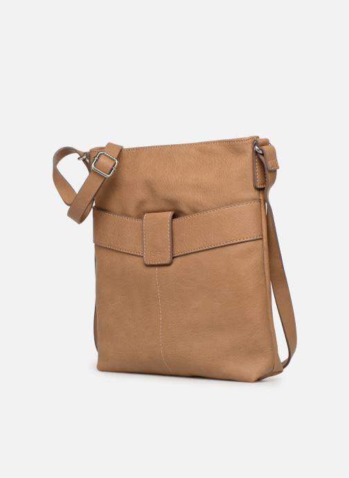 Sacs à main Esprit Lexi Shoulder Bag Beige vue portées chaussures