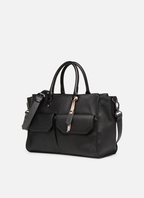 Sacs à main Esprit Lydia City Bag Noir vue portées chaussures
