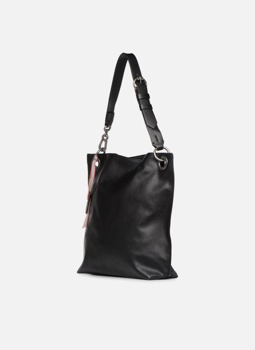 Handtaschen Esprit Lili Hobo schwarz schuhe getragen