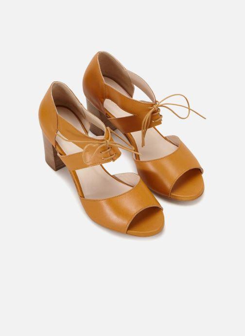 Sandales et nu-pieds 70/30 Quimper Jaune vue détail/paire