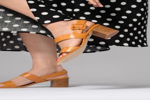 Sandales et nu-pieds 70/30 Lison Jaune vue bas / vue portée sac
