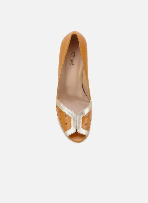 High heels 70/30 Dinard Yellow front view