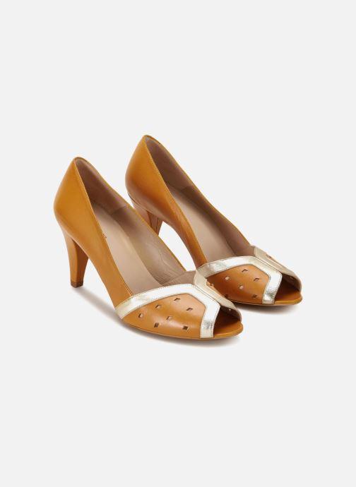 High heels 70/30 Dinard Yellow detailed view/ Pair view