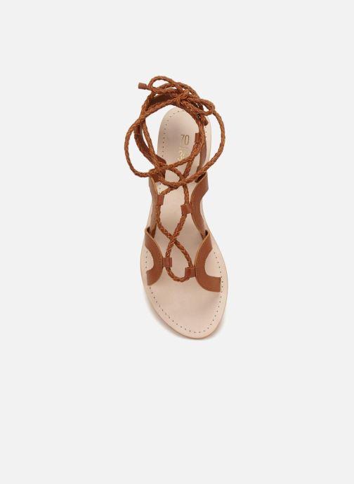 Sandales et nu-pieds 70/30 Antibes Marron vue face