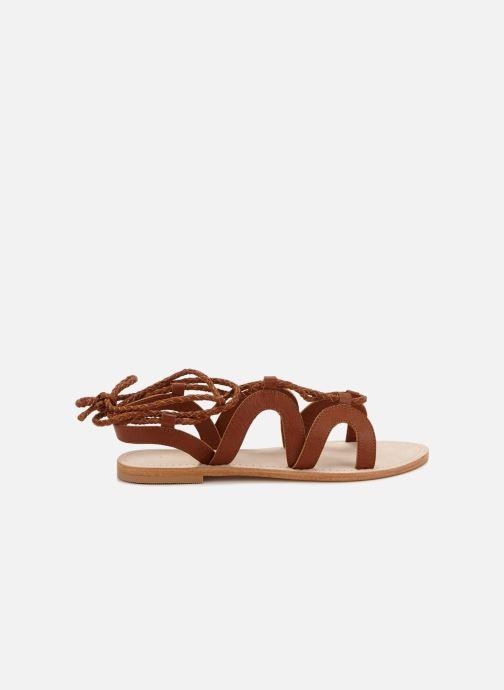 Sandales et nu-pieds 70/30 Antibes Marron vue derrière
