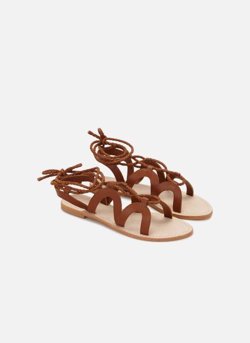 Sandales et nu-pieds 70/30 Antibes Marron vue détail/paire