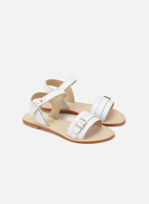 Sandales et nu-pieds 70/30 Ales Blanc vue détail/paire