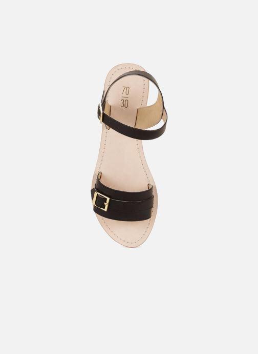 Sandales et nu-pieds 70/30 Ales Noir vue face