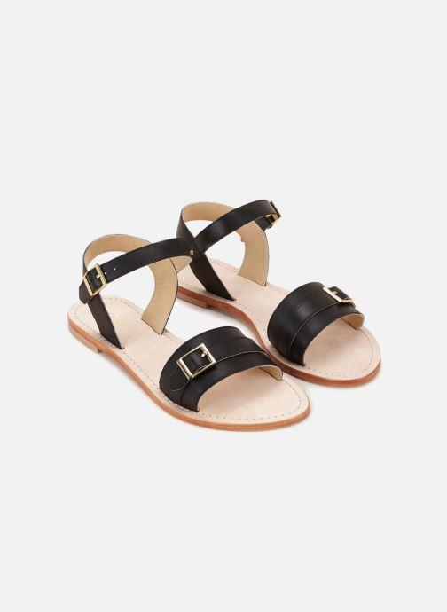 Sandales et nu-pieds 70/30 Ales Noir vue détail/paire