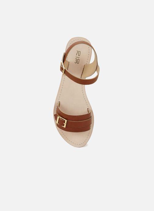 Sandales et nu-pieds 70/30 Ales Marron vue face