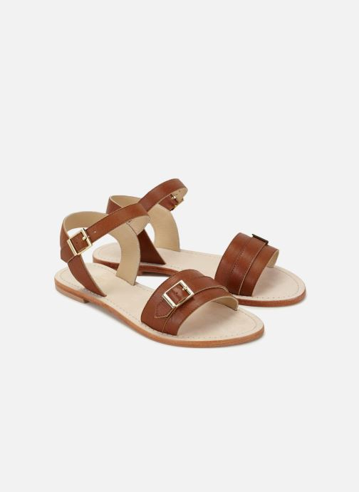 Sandales et nu-pieds 70/30 Ales Marron vue détail/paire