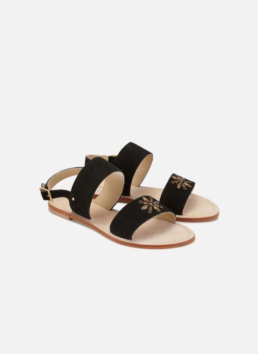 Sandales et nu-pieds 70/30 Hyeres Noir vue détail/paire