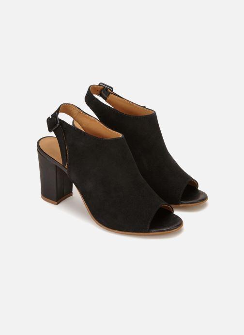 Sandales et nu-pieds 70/30 Palavas Noir vue détail/paire