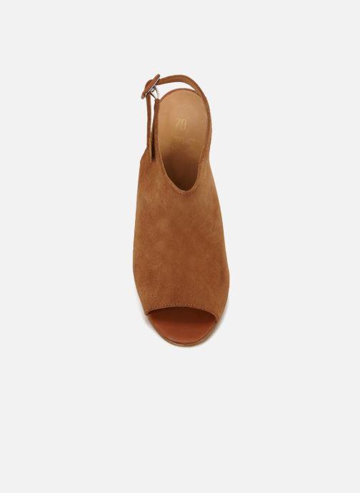 Sandales et nu-pieds 70/30 Palavas Marron vue face