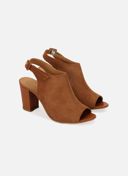 Sandales et nu-pieds 70/30 Palavas Marron vue détail/paire