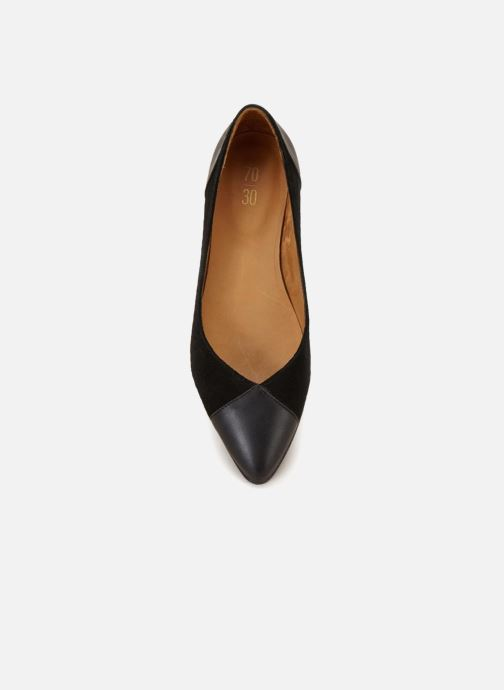 Ballet pumps 70/30 Isadora Black front view