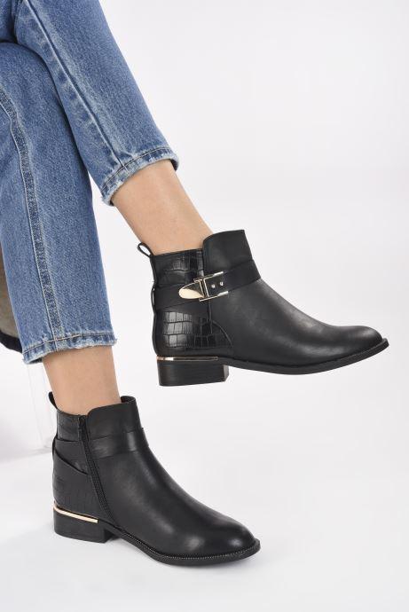 Stiefeletten & Boots I Love Shoes THAMILLE schwarz ansicht von unten / tasche getragen