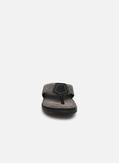Zehensandalen I Love Shoes THONG Leather schwarz schuhe getragen