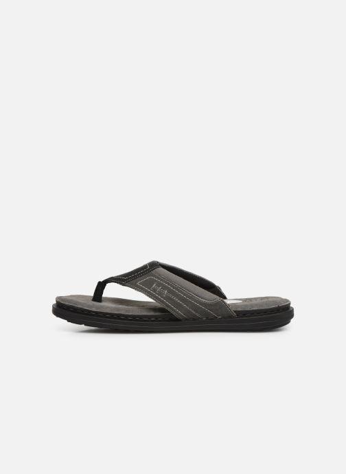Flip flops I Love Shoes THONG Leather Svart bild från framsidan