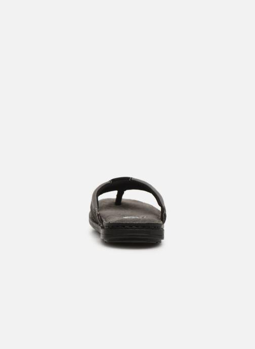 Flip flops I Love Shoes THONG Leather Svart Bild från höger sidan