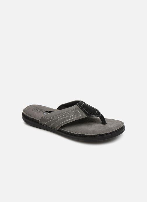 Flip flops I Love Shoes THONG Leather Svart detaljerad bild på paret