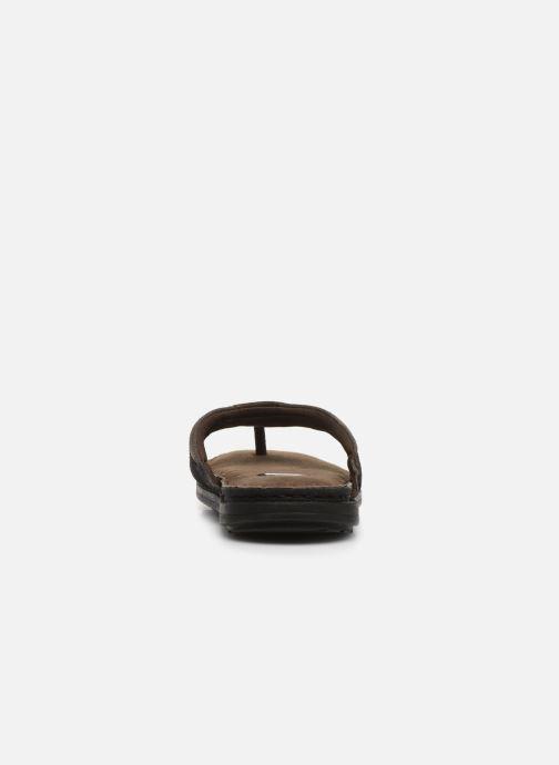 Tongs I Love Shoes THONG Leather Marron vue droite