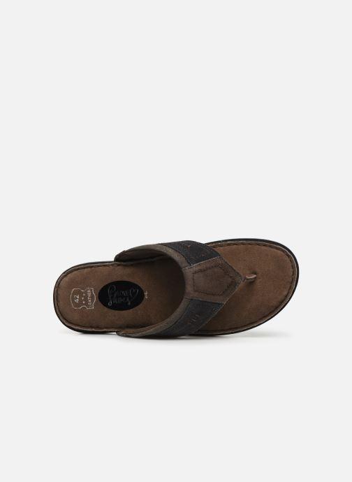 Tongs I Love Shoes THONG Leather Marron vue gauche