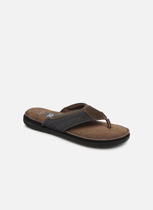 Tongs I Love Shoes THONG Leather Marron vue détail/paire