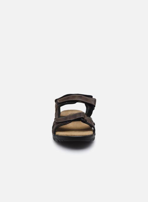 Sandales et nu-pieds I Love Shoes THANDAL Leather Marron vue portées chaussures