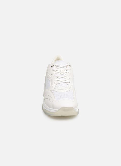 Baskets Geox D KIRKYA B D92BPB Blanc vue portées chaussures