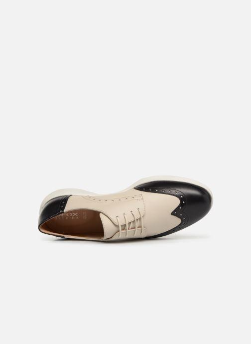 Zapatos con cordones Geox D ARJOLA F D92DHF Beige vista lateral izquierda