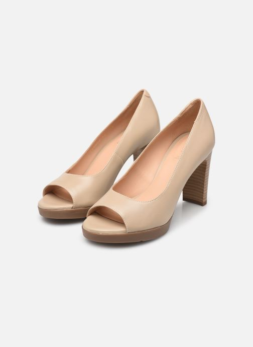 High heels Geox D ANNYA OPEN TOE D D92CLD Beige view from underneath / model view