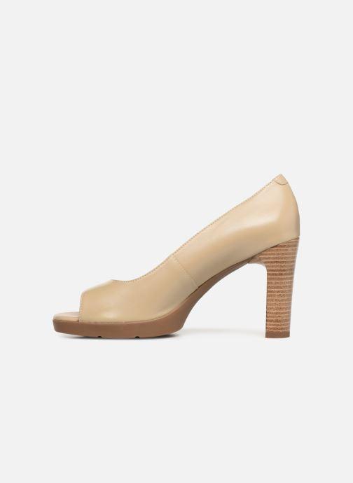 High heels Geox D ANNYA OPEN TOE D D92CLD Beige front view