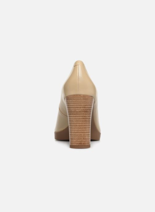 High heels Geox D ANNYA OPEN TOE D D92CLD Beige view from the right