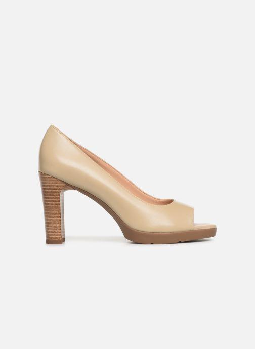 High heels Geox D ANNYA OPEN TOE D D92CLD Beige back view