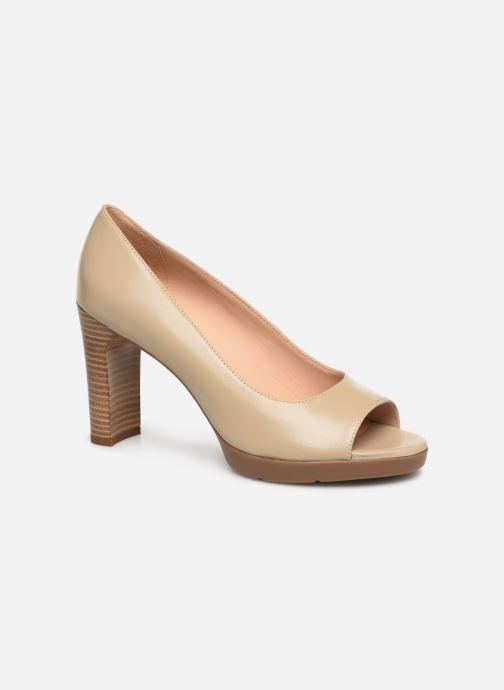 High heels Geox D ANNYA OPEN TOE D D92CLD Beige detailed view/ Pair view