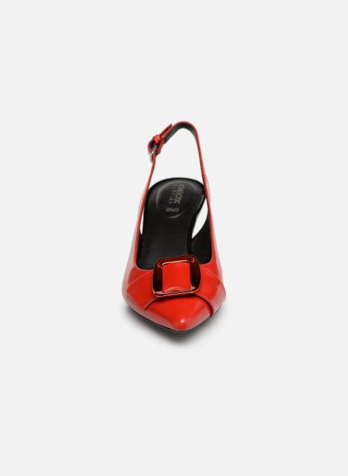Escarpins Geox D ELISANGEL MID B D92BWB Rouge vue portées chaussures