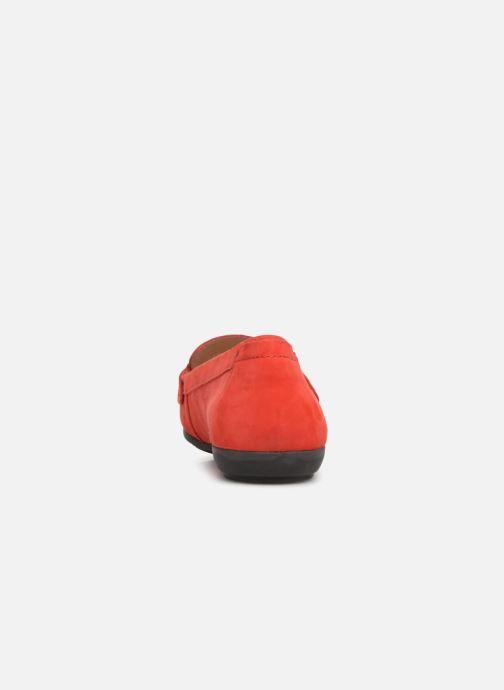 Mocassins Geox D ANNYTHAH MOC A D84BMA Rouge vue droite