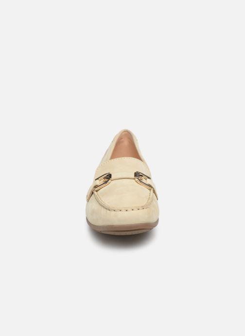 Mocassins Geox D ANNYTHAH MOC A D84BMA Beige vue portées chaussures