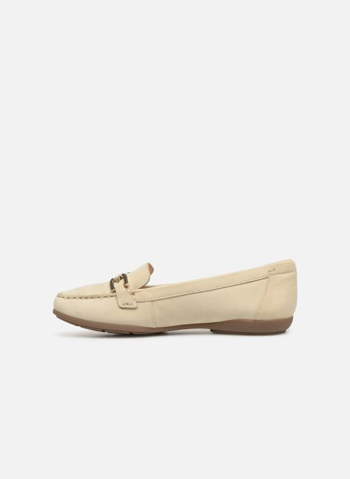 Loafers Geox D ANNYTHAH MOC A D84BMA Beige front view