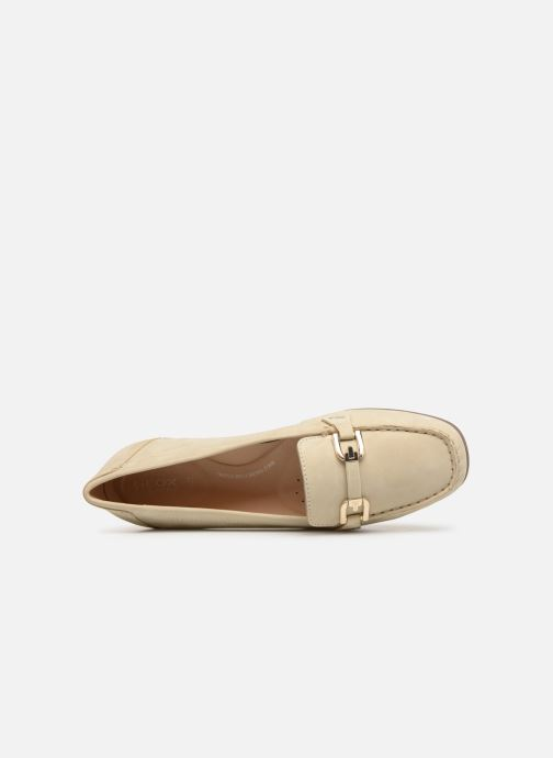 Loafers Geox D ANNYTHAH MOC A D84BMA Beige view from the left