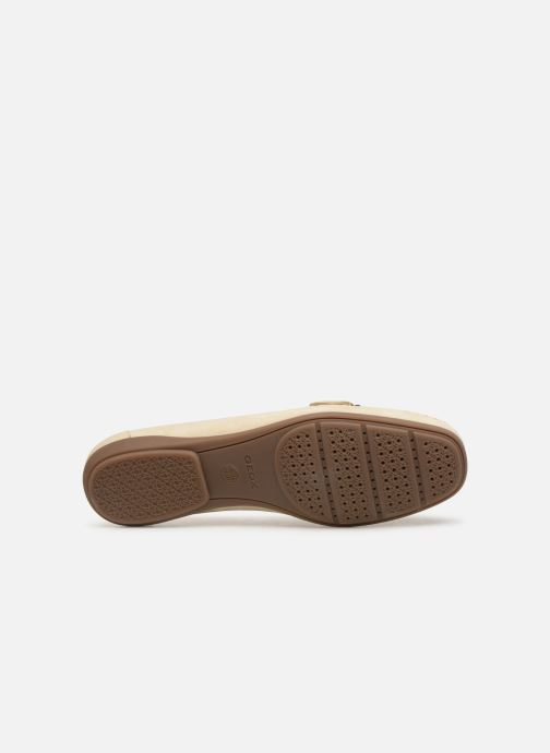 Loafers Geox D ANNYTHAH MOC A D84BMA Beige view from above