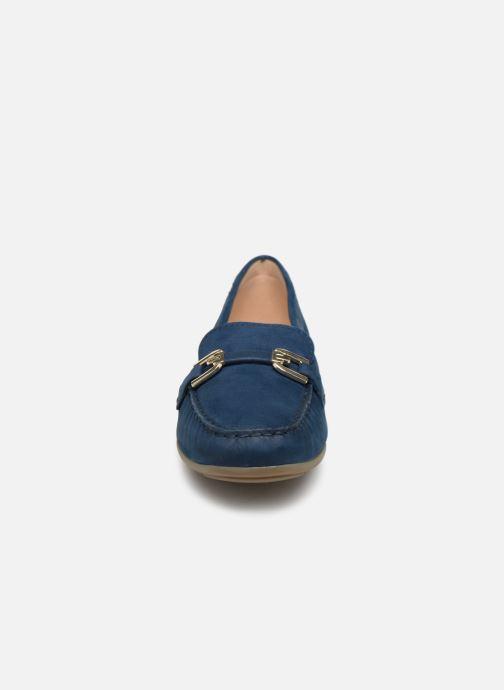Mocassins Geox D ANNYTHAH MOC A D84BMA Bleu vue portées chaussures