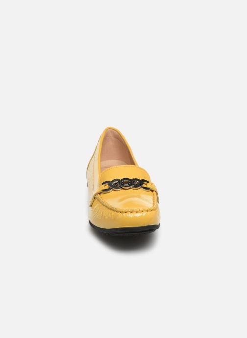 Slipper Geox D ANNYTAH MOC A D92BMA gelb schuhe getragen