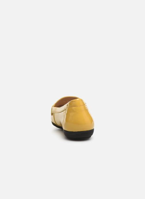 Loafers Geox D ANNYTAH MOC A D92BMA Yellow view from the right
