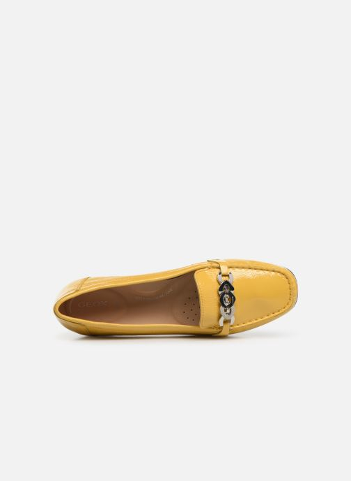 Loafers Geox D ANNYTAH MOC A D92BMA Yellow view from the left